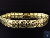 10k gold bracelet - Mens and Ladies K Yellow Gold Nugget Style Link Designer Inch Bracelet mm