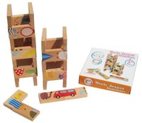 Wholesale Baby Toys Domino Beech Wooden Toys Animal Domino Blocks Classic Toys Educational Toys Child Birthday Gift