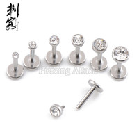 Wholesale 18G Triple Forward Helix Internally Threaded Labret of Mixed Sizes