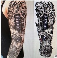 Wholesale Big Style Full Arm Temporary Tattoo Body Art Removable Waterproof Tattoo Sticker