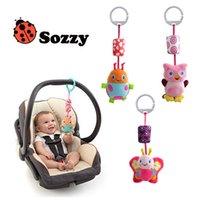Wholesale Sozzy Animal Style Baby Ratlle Baby Mobile Bed Hanging Wind Chimes Ringing Baby Hand Bell Toy Plush Dolls Toy