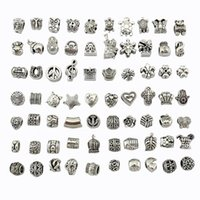 Wholesale DIY European Charm Alloy bead one hundred kinds of style Glass beads coated with enamel alloy bead bracelet necklace fashion Accessories
