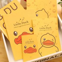 Wholesale Cute Yellow Duck Soft Cover A6 Mini Notebook Diary Pocket Notepad Promotional Gift Stationery