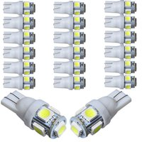Wholesale 30pcs White color Bulb T10 SMD LED Car Side Wedge Tail Light Lamp W5W warm white red