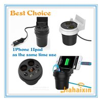 Wholesale 4in1 Way Car Auto Cigarette Lighter Socket Splitter USB Power Adapter Charger Metal with Holder retail package