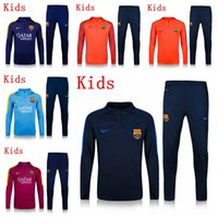 barcelona soccer clothes - Barcelona messi Kids soccer jerseys sport Sweatshirts training tracksuit boys training suits football shirt clothes Sweatshirts pants kids