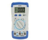 Wholesale A830L DMM Digital Multimeter Ammeter Multitester Voltmeter Megohmmeter Ohmmeter hFE Current Tester w LCD Backlight