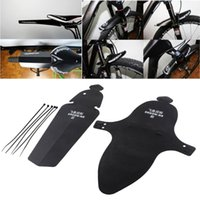 Wholesale free shippment Bike Bicycle MTB Black Sports With Ribbon Fender Front Rear Mudguard removement parts