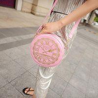 bag clock - Women Handbags Women s Handbag Circle One Shoulder Mini Women Messenger Bag Round Clock Coin Purse Cross Body Bolsa Christmas gift