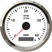 Wholesale 85mm White KUS Tachometer rpm for diesel engine CMHB WS KL SV KY07102