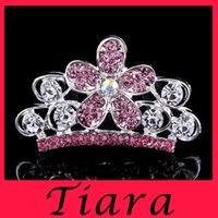 Wholesale The explosion of new children are beautiful flowers and the crown diamond alloy hair Cute hair dress
