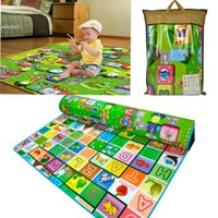 baby climbing toys - New Child Play Mats Eco Friendly Thicken Baby Crawling Mat Climb Blanket Creeping Puzzle Pad Animals Letters Learning Camping Play Tent Mats