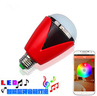 android lamps - Bluetooth Smart Speaker Music Lamp RGB Led Bulb Light Intelligent Music Player LED Lamp Waterproof APP Remote Control for Android IOS Phones