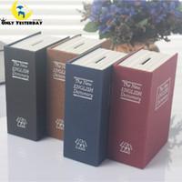 bank safety deposit box - 2016 Popular Safety Deposit Cash Box Secret Metal Piggy Bank With Coins Mini Creative English Dictionary Book Money Box