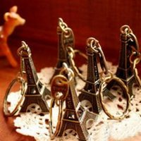 advertising roles - couple lovers key ring advertising gift keychain Alloy Retro Eiffel Tower key chain tower French france souvenir paris keyring keyfob cut