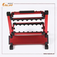 aluminum rod holders - ILURE High Quality Rods Holder kg Weight Aluminum Fishing Rod Rack drop shipping