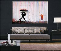 art posters online - icture painting online Banksy art Colorful Rain BANKSY canvas painting wall pictures for living room wall art cuadros decorativos poster