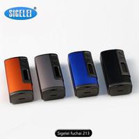 Cheap 100% Original Sigelei Fuchai 213w TC Temperature Control Huge Vapor Box Mod OLED Screen vs Sigelei 213 vs Reuleaux RX200 vs Cool Fire IV