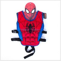 batman swim suit - Children swim vest cartoon animal swimming Floating power suit Spider Man superman Batman KT minnie Unisex hot LJJO02