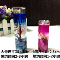 Wholesale 6pieces Romantic Candle Gel Candle Shell Ocean View Gel Art Gift Candle Home Decoration Transparent Candles Cup Candle Wedding Gift Candle