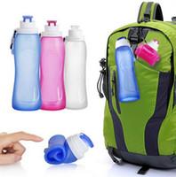 Wholesale My Friday Travel Bottle Silicone Folding Outdoor Sports Bottle Foldable Silicone Sports Water Bottle Folding Silicone Water Bottle D567