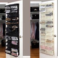 Wholesale 26 Pairs Shoe Rack Door Wall Hanging Shelf Bag Shoes Stand Holder Home Living Room Storage Organizer