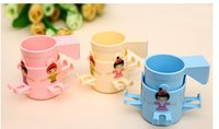 Wholesale Cartoon multifunctional fashion bathroom around music rotation type four toothbrush holder
