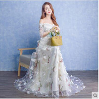 Wholesale The new spring and summer fashion dress bridesmaids dress long show host evening party dress