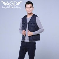 Wholesale Fall Seasonal Clearance Winter Men s Casual Vest For Mens Down Vest Thickened Down Cotton Vest Mens Waistcoats Brand Clothing M XXL