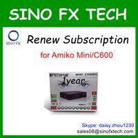 Wholesale Renew Singapore DVB C cable TV box starhub channels year subscription for Amiko Mini C600 SG cccam