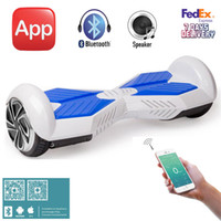 Wholesale Electric Scooter Inch Bluetooth Speaker Samsung Battery Self Balancing Smart Balance Hover Board Hoverkart Go kart HoverSeat Phone App