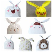 Wholesale 7 Kinds Mix Color Baking Packaging Bag Lunch Bag Cute Rabbit Ear Cookie Bags Wedding Candy Biscuit Packaging Gift Bags