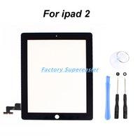 Negro de la pantalla táctil de cristal digitalizador reemplazo + las adhesiva de 3M Sticker + Herramientas para iPad 2