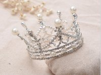 Wholesale The bride jewelry diamond wedding dress wedding bride alloy round crown headwear accessories