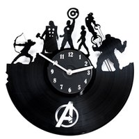 Wholesale secondlifeforvinyl Avengers Vinyl Record Clock