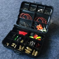 Accessoires Rock Fishing Lure Kit 128 Pieces Set Worm crochet Balls Rod Clip Bas connecteur Head Sinker Jig Anneau Ligne d'arrêt Cuiller