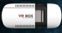 Wholesale 2016 Best VR BOX Google Cardboard Plastic VR BOX II Virtual Reality Headset Simulator D Glasses for IOS Android System Smartphone