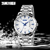 Wholesale Brand New Men s Fashion m Waterproof watch quartz movement watches Genuine stainless steel bracelet Wristwatches SKMEI