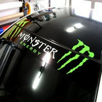 Wholesale UG_ Car garland reflective stickers front stop stickers rear windshield stickers back front rise
