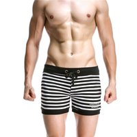 Wholesale Seobean Mens Shorts Casual New Gym Running Striped Sport Shorts Fitness Men Boxer Shorts Trunks Cotton Beach Shorts Hot