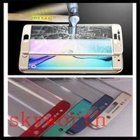 Wholesale For iPhone Plus Samsung Galaxy S7 S6 edge plus Fully Cover D Curved Tempered Glass Screen Protector LG MM H Retail Box