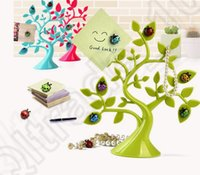 Wholesale 3 color LJJK366 Cute Lucky Tree Ladybird Magnets Memo Message Magnet Post Lovely Home Decor Gift Funny Refrigerator Fridge Magnet Sticker