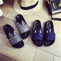 Wholesale 2016 Summer Shoes new leather slippers and sandals women Korean Cute Rabbit Ears Wedges Platform Sandals Beach Female Slippers wqyx39