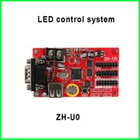 Wholesale 5V ZH U0 USB port controller card led screen led module control system Hub08 and Hub12 Multi area Display Asynchronous lighting controllers