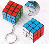 Wholesale Kids Puzzle Magic Game Toy Cube Keychain cm Learning Education Toys ELT054