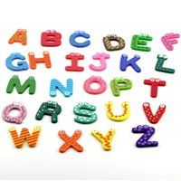 abc magnetic letters - 1set High Quality Fridge Wooden Magnet Baby Child Toy A Z ABC Educational Alphabet Letters