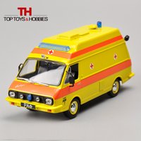 ambulance bus - 1 Scale Russia Ambulance Collection Alloy Car Model Diecast Bus Yellow Color Kids Toys Collection Gift