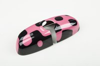 abs interiors - Brand New Mini Cooper ABS Material UV Protected Interior Mirror Cover Vivid Pink Style For mini cooper F56 Set