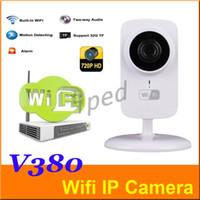 al por mayor cámara grande de la casa barato-La cámara V380 barato 720P P2P Mini Wireless IP de Wifi CCTV CAM monitor de bebé para la seguridad casera apoyar la visión nocturna libre de DHL 5pcs