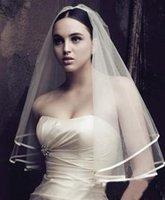Wholesale hon_esty cheap Veil Charm Generous Bride Bridesmaid Accessories Veil White Ivory Short Wedding Veil One Layer with Bridal Veils